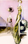 30s evening gown